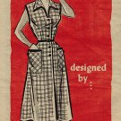 Anne Adams R4519 50s Mail Order Housewife DRESS Vintage Sewing Pattern