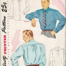 Simplicity 1952 40s *UNCUT French Cuffs Mens SHIRTS Vintage Sewing Pattern