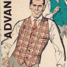 Advance 9952 60s *UNCUT Classic Mens VEST Bishop Method/Three Pocket Vintage Sewing Pattern