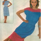 McCall's 8048 80s Kimono Sleeve DRESS & BELT Vintage Sewing Pattern