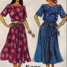 Simplicity 8005 80s Pullover DRESS with Tie Belt Vintage Sewing Pattern