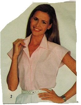 Simplicity 5887 80s Set of SHIRTS Vintage Sewing Pattern