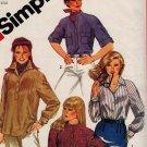 Simplicity 5547 80s Raglan Sleeve SHIRT & Pullover TOP Vintage Sewing Pattern