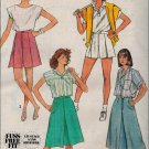 Simplicity 7463 80s Set of CULOTTES Vintage Sewing Pattern