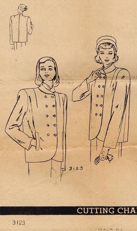 Vogue 3123 40s Fabulous Box JACKET Vintage Sewing Pattern