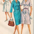 Simplicity 5751 60s Pan Am Era Classic One-Piece DRESS Slim or Flared Skirt, Vintage Sewing Pattern