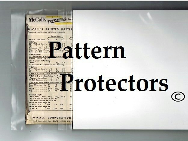 Pattern Protectors - Vintage Sewing Pattern Protection & Storage ...