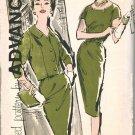 Advance 9551 60s *UNCUT Half Size DRESS & JACKET with Notched Neckline Vintage Sewing Pattern