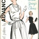 "Advance 9868 60s *UNCUT ""Loretta Young's Choice"" Lovely Jewel Neck DRESS Vintage Sewing Pattern"