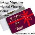 Vintage Vignettes Custom Gift Card for Original Vintage Sewing Patterns