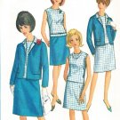 Simplicity 6891 60s JACKET, SKIRT & BLOUSE-SEPARATES Vintage Sewing Pattern