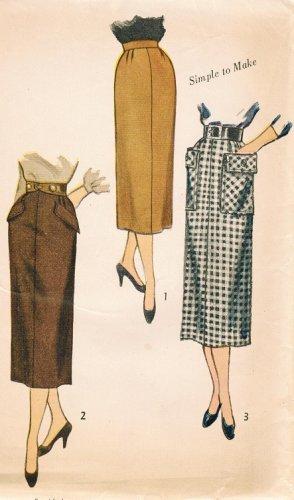 Simplicity 3330 50s *UNCUT Vintage Wiggle SLIM SKIRT Sewing Pattern