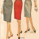 Simplicity 4529 60s PENCIL WIGGLE SKIRT Vintage Sewing Pattern