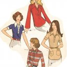 Butterick 6708 VTG 70s Misses' PULLOVER SHIRTs for knit fabric Sewing Pattern