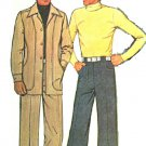 McCall's 4873 Vintage 70s Men's Unlined JACKET & PANTS Sewing Pattern