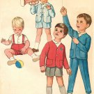 Simplicity 4913  60s Toddler's JACKET, SHIRT & PANTS Vintage Sewing Pattern