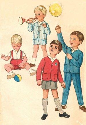 Simplicity 4913  60s Toddler's JACKET, SHIRT & PANTS Vintage Sewing Pattern