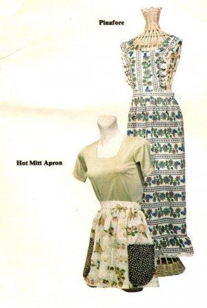 Geno Designs 1203 Vintage 70s PINAFORE & Hot Mitt APRON Sewing Pattern