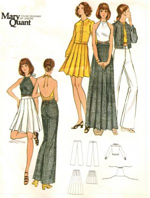 Butterick 6649 Vintage 1970s Mary Quant Sewing Pattern - Jacket, Skirt, Pants & Top