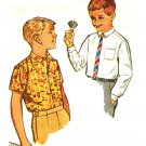 Simplicity 4964 1960s Classic Boys DRESS and SPORTS SHIRTS Vintage Sewing Pattern