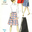 Vogue 6973 Classic 60s Evening Length SKIRT Vintage Sewing Pattern