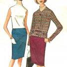 McCall's 7896 Vintage 60s Pan Am Era JACKET, SKIRT & BLOUSE Sewing Pattern
