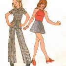 McCall's 4000 Vintage 70s Girl's DRESS or JACKET, Top , Skirt & Pants Sewing Pattern