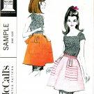 McCall's Vintage 60s Uncut Mad Men Hostess APRON Sample Sewing Pattern Half Apron
