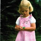 Butterick 5755 Cute 70s Little Girls' Jumper DRESS Vintage Sewing Pattern