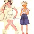 McCall's 6652 Vintage UNCUT 70s WRAP SKIRT with Patch Pockets & T-SHIRT Sewing Pattern