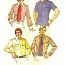 McCall's 3439 Vintage 70s Men's SHIRT Wardrobe (Dress & Sport) Sewing Pattern