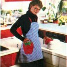 Simplicity 9255 Vintage UNCUT 70s APRON and Kitchen Appliance Covers Sewing Pattern