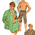 """McCall's 2404 Vintage 70s UNCUT """"Jams"""" SHORTS in 3 Lengths and Jacket Sewing Patttern"""