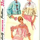 Simplicity 4935 UNCUT Vintage 50s Elegant BED JACKETS Asian Frog TogglesSewing Pattern