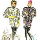 Burda 5834 Vintage 80s Bat-wing Sleeves Pullover TUNIC TOP, SKIRT & PANTS Sewing Pattern