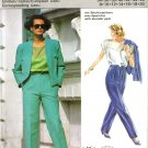 "Burda 6275 Vintage 80s ""Collection Burda Speciale"" BLOUSE, JACKET & PANTS Sewing Pattern"