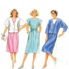 Burda 6596 Vintage 80s UNCUT DRESS & JACKET Sewing Pattern