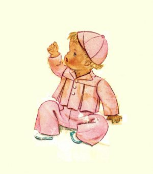 """McCall 832 Vintage 40s Toddlers """"Three Little Bears"""" JACKET, CAP & Overalls Sewing Pattern"""