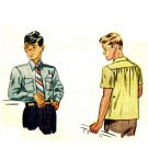 Simplicity 1503 Vintage 40s WWII Era Boys SHIRT Sewing Pattern