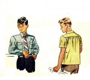 Simplicity 1503 Vintage 40s WWII Era Boys SHIRT Sewing Pattern