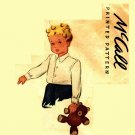 McCall 6108 Vintage 1945 Boys' SHIRT Sewing Pattern Rare