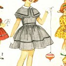 Simplicity 4586 Vintage 60s Girl's 7 Day Wardrobe DRESS Sewing Pattern