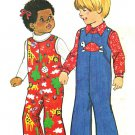 Simplicity 7322 Vintage 70s Toddlers' JUMPSUIT, Long or Short, Sewing Pattern