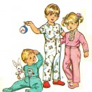 Simplicity 5051 Vintage 70s Toddlers PAJAMAS with Transfer Sewing Pattern