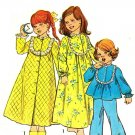 Simplicity 6687 Vintage 70s Adorable Nightgown, Robe and Pajamas Sewing Pattern