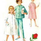 Simplicity 5217 Vintage 60s Girls Bed Jacket, Robe and Pants with Rose Applique Sewing Pattern