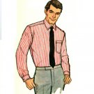 Simplicity 7745 Vintage 60s Mad Men Tapered Sports Shirt Sewing Pattern