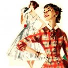 Simplicity 1339 Vintage 50s Divine DRESS Sewing Pattern