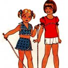 Simplicity 6908 Vintage 70s UNCUT Girls' Halter Top, Top Pant Skirt and Shorts Sewing Pattern