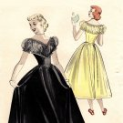 Butterick 5526 50s TEEN AGE DANCE DRESS: DECOLLETE BODICE Vintage Sewing Pattern
